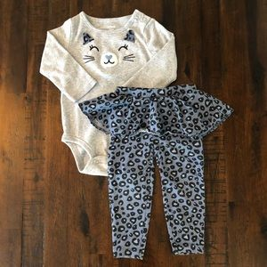 Carter's 12 month long sleeve outfit with skirt
